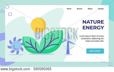 Nature Energy Light Bulb Lamp Green Leaf Hydro Power F Propeller Water Campaign For Web Website Home