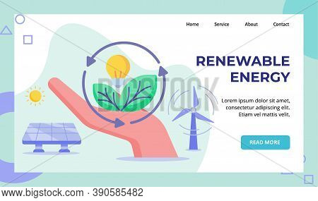 Renewable Energy Hand Hold Green Leaf Lamp Bulb Recycle Wind Solar Energy Campaign For Web Website H