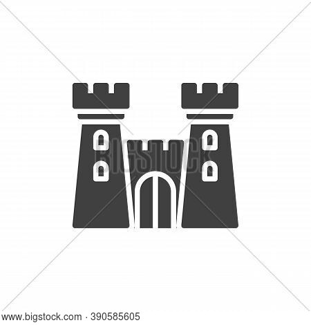 Fortress Towers Vector Icon. Filled Flat Sign For Mobile Concept And Web Design. Castle Tower Glyph