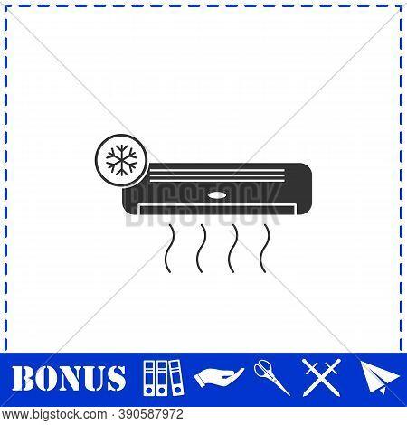 Air Conditioning Icon Flat. Simple Vector Symbol And Bonus Icon