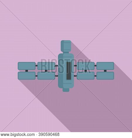 Connection Satellite Icon. Flat Illustration Of Connection Satellite Vector Icon For Web Design