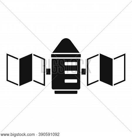 Transmitter Satellite Icon. Simple Illustration Of Transmitter Satellite Vector Icon For Web Design