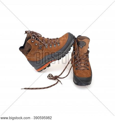 Sport Mountain Boots Isolated On White Background