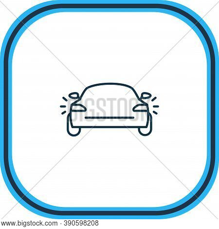 Vector Illustration Of Tail Light Icon Line. Beautiful Car Element Also Can Be Used As Headlights Ic