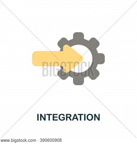 Integration Icon. Simple Element From Business Growth Collection. Creative Integration Icon For Web