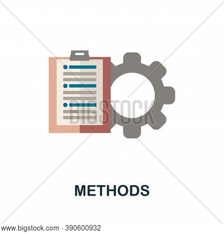 Methods Icon. Simple Element From Business Growth Collection. Creative Methods Icon For Web Design,