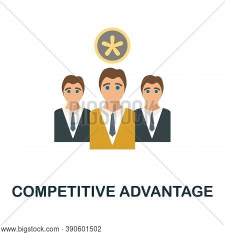 Competitive Advantage Icon. Simple Element From Business Growth Collection. Creative Competitive Adv