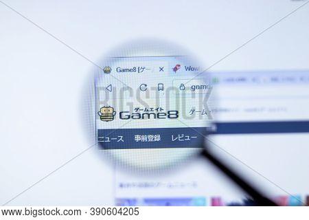 New York, Usa - 29 September 2020: Game8 Game8.jp Company Website With Logo Close Up, Illustrative E