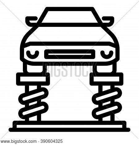 Car Lift Machine Icon. Outline Car Lift Machine Vector Icon For Web Design Isolated On White Backgro