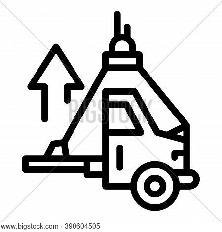 Car Lift Elevator Icon. Outline Car Lift Elevator Vector Icon For Web Design Isolated On White Backg