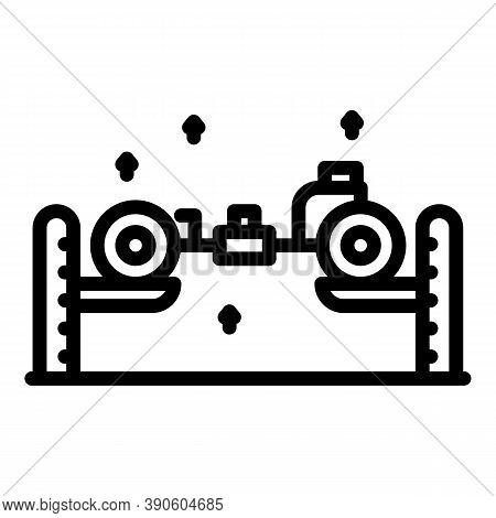 Car Lift Mechanism Icon. Outline Car Lift Mechanism Vector Icon For Web Design Isolated On White Bac