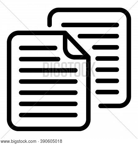 Papers Scenario Icon. Outline Papers Scenario Vector Icon For Web Design Isolated On White Backgroun