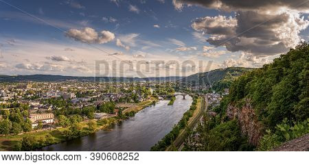 Panorama Of Trier With The River Mosel And Mountains