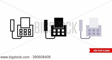 Fax Icon Of 3 Types Color, Black And White, Outline. Isolated Vector Sign Symbol.
