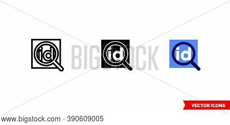 Id Definition Icon Of 3 Types Color, Black And White, Outline. Isolated Vector Sign Symbol.