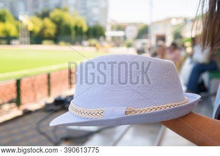 Stylish Womans Outfit. Nature Stylish Top Hat. Stylish Young Woman Fashion Details