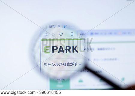 New York, Usa - 29 September 2020: Epark Epark.jp Company Website With Logo Close Up, Illustrative E