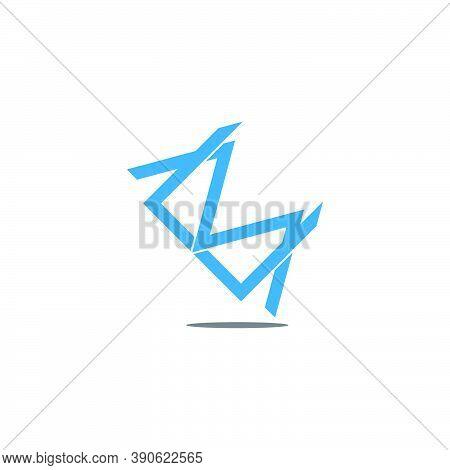 Letter Cm Simple Linked Overlap Design Symbol Vector