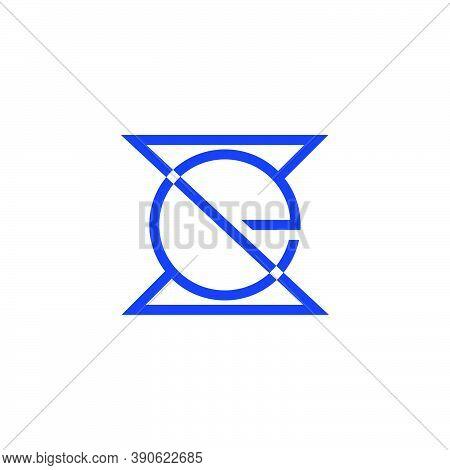 Letter Se Simple Linked Geometric Linear Logo Vector