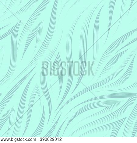 Vector Seamless Pattern Of Dark Lines And Corners On A Turquoise Background.texture Of Flowing Shape