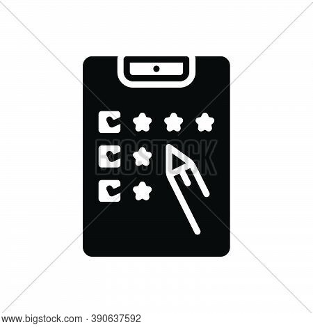 Black Solid Icon For Grade Category Result Mark Standard Rank Feedback Test