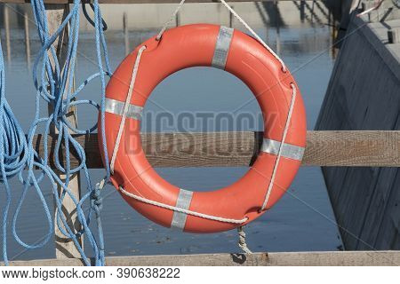 A Safety Buoy At The Beach