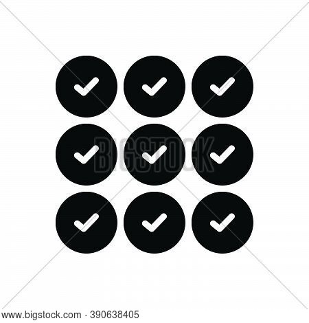 Black Solid Icon For Whole Full Entire Complete All