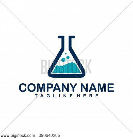 Lab School, A Logo For Education, Science Lab Logo Concept With Chemical Liquid, Lab Logo Icon Desig