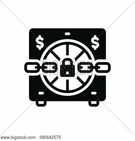 Black Solid Icon For Seize Locker Grab Take-hold-of Grip Clutch Chain Locked
