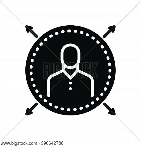 Black Solid Icon For Widespread Boundless Prevalent Prevailing Operable Passable Extensive