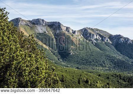 Belianske Tatras, Slovak Republic. Hiking Theme. Seasonal Natural Scene.