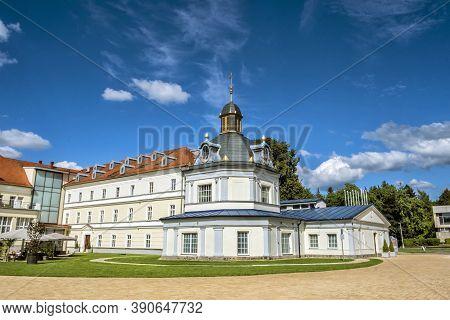 Blue Bath, Turcianske Teplice Spa Resort, Slovak Republic. Health Resort. Architectural Theme. Trave