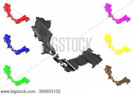 Santo Andre City (federative Republic Of Brazil, Sao Paulo State) Map Vector Illustration, Scribble