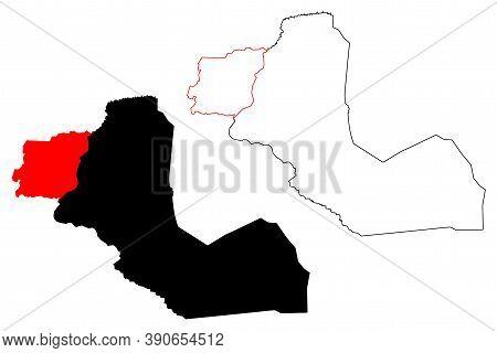 Western Bahr El Ghazal State (states Of South Sudan, Bahr El Ghazal Region) Map Vector Illustration,