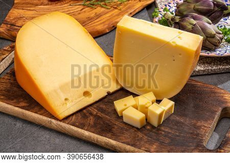 Cheese Collection, Dutch Ripe Hard Cheeses Made From Cow Milk In The Netherlands