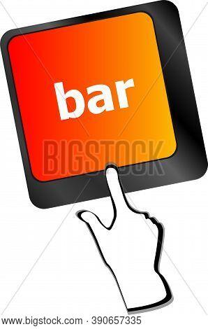 Bar Button On The Digital Keyboard Keys