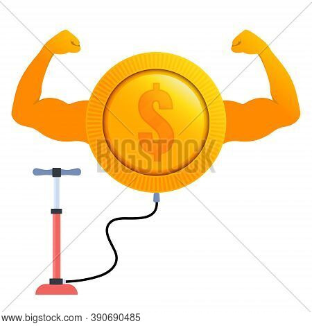 Strong Growing Dollar Currency With A Pump
