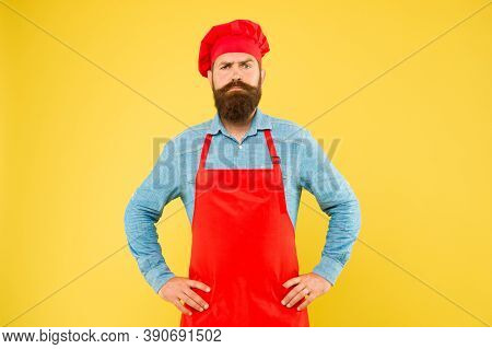 Serious Chef Man Looking For Inspiration Invent Delicious Dishes For Sophisticated Client.