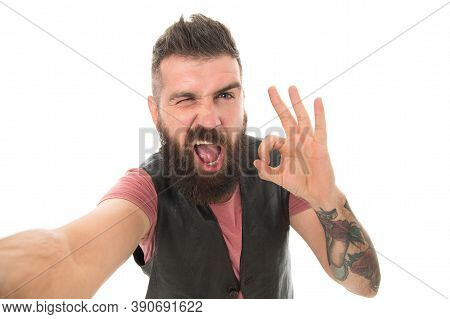 It Is Alright Just Wait And See. Beard Grooming. Styling Beard And Moustache. Fashion Trend Beard Gr