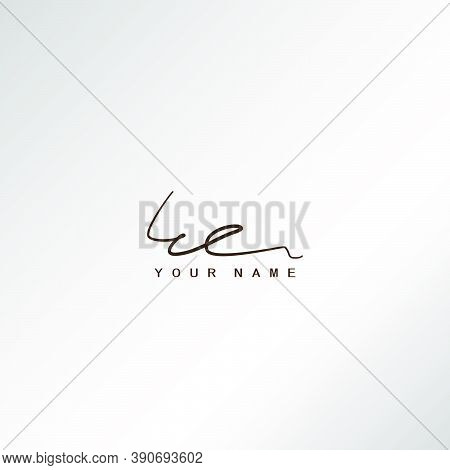 Signature Logo E And E, Ee Initial Letter Logo Design. Handwriting Calligraphic Signature Logo Desig