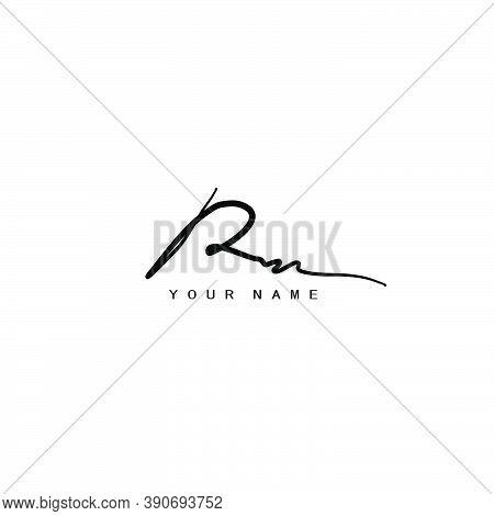 Signature Logo R And M, Rm Initial Letter Logo Design.