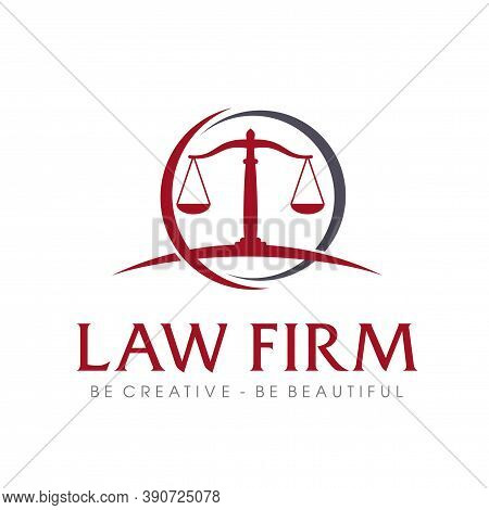 Law Firm Logo, Law, Lawyer And Attorney Logo Vector