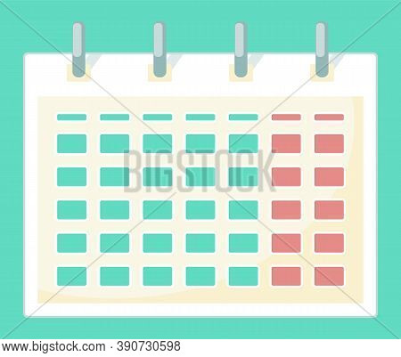 Calendar Used To Make Schedules, Mark Meetings, Plans And Other Arrangements, Tool For Time Optimiza