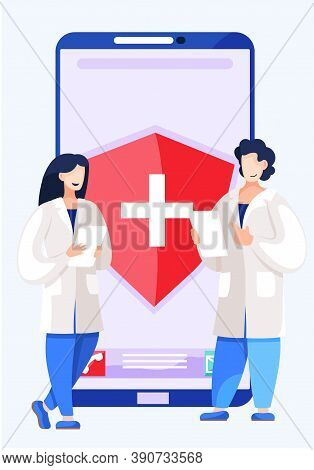 Health And Medical Consultation Application. Online Communication With Doctor And Medical Workers, H