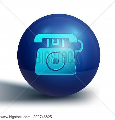 Blue Telephone With Emergency Call 911 Icon Isolated On White Background. Police, Ambulance, Fire De