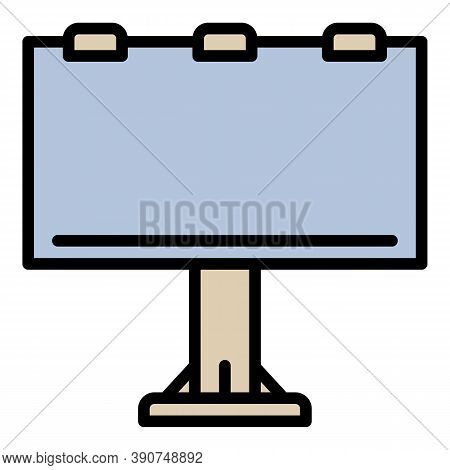 Billboard Agency Outdoor Advertising Icon. Outline Billboard Agency Outdoor Advertising Vector Icon
