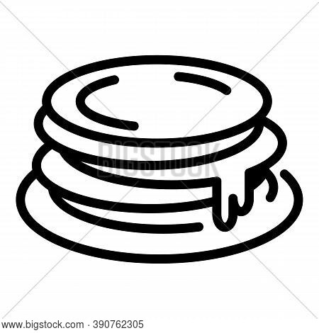 Lunch Pancakes Icon. Outline Lunch Pancakes Vector Icon For Web Design Isolated On White Background