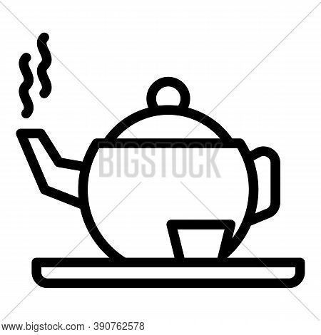 Tea Infusion Icon. Outline Tea Infusion Vector Icon For Web Design Isolated On White Background