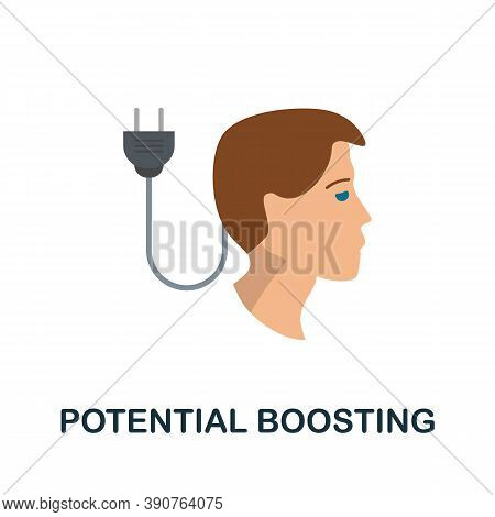 Potential Boosting Icon. Simple Element From Business Motivation Collection. Creative Potential Boos