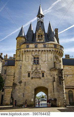 France, Bordeaux, May, 19, 2019 -  Amazing Gate Cailhau Porte Cailhau In The Bordeaux City, Aquitain